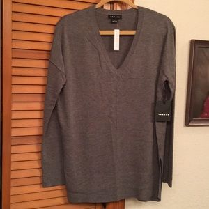 Trouve' v-neck tunic length sweater